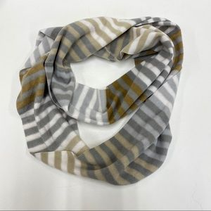 Old Navy White, Gold and Silver Scarf